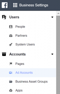 Facebook Business Settings Ad Account