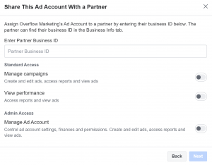 Facebook Ads Account Access Levels